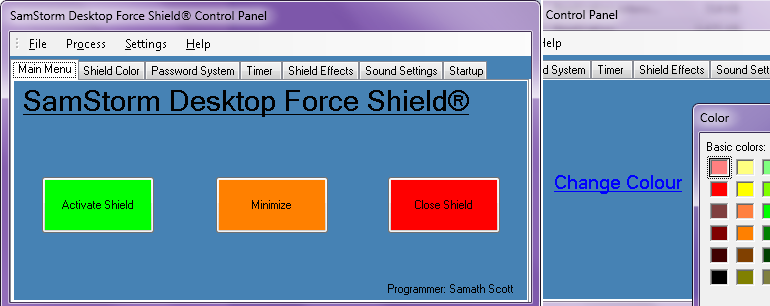 Desktop Force Shield in Visual Basic.Net